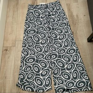 Lolly Wolly Doodle Sz S Gray White Palazzo Pants